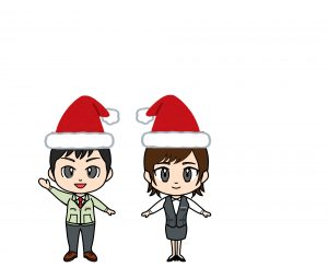 ポーズ(クリスマス帽子)